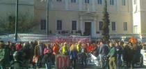 Διαμαρτυρία έξω από το Σ.τ.Ε. ενώ εκδικάζεται η προσφυγή κατά της Διαθεσιμότητας