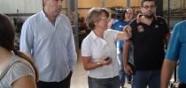23-9-2013 Ο Νίκος Λυγερός επισκέπτεται το 1ο Σ.Ε.Κ. Ηρακλείου