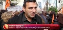 Ισπανικό κανάλι για την συγκέντρωση διαμαρτυρίας των εκπαιδευτικών μπροστά στο ΣτΕ. 7/2/2013