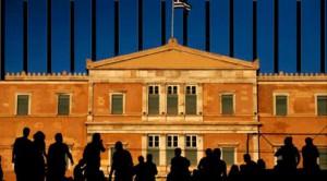 ΔΤ ΟΛΤΕΕ-031_ Κάγκελα μέσα στη Βουλή